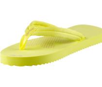 Slim Tex Zehensandalen Damen, gelb