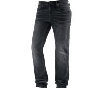 Slim Fit Jeans Herren, schwarz