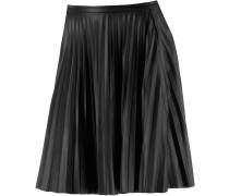 Faltenrock Damen, schwarz