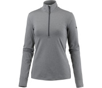 Pro Dry Fit Langarmshirt Damen, dark grey heather-dark grey-black