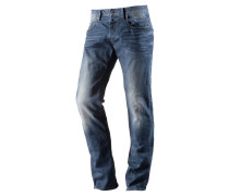 Defend Straight Straight Fit Jeans Herren, blau