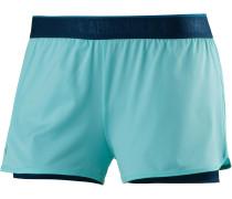 Heatgear Armour Shorts Damen, BLUE INFINITY/MIDNIGHT NAVY/METALLIC SILVER