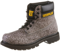 Colorado Calf Fur Schnürstiefel Damen, grau