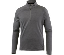 Second Skin Langarmshirt Herren, steel grey melange