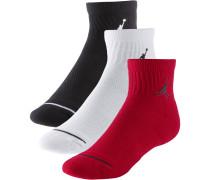 Socken Pack Herren, BLACK/WHITE/GYM RED