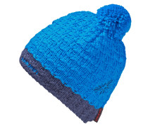 Pommel Bommelmütze, blau