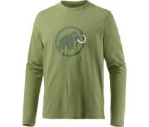 Logo Langarmshirt Herren, grün