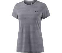 Threadborne Train Jacquard T-Shirt Damen, grau