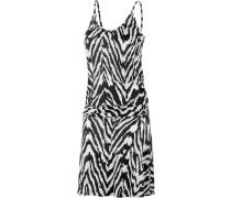 Trägerkleid Damen, schwarz/weiß/allover