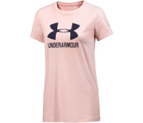 Sportstyle T-Shirt Damen, CAPE CORAL LIGHT HEATHER/MIDNIGHT NAVY