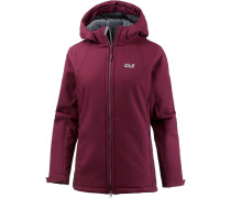 Rock Valley Softshelljacke Damen, garnet red
