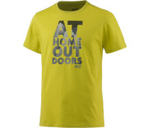 Jack Wolfskin Slogan Printshirt Herren, gelb