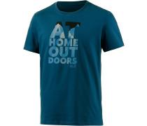 Jack Wolfskin Slogan Printshirt Herren, blau