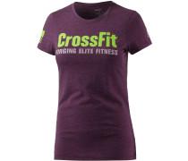 Crossfit T-Shirt Damen, lila/melange