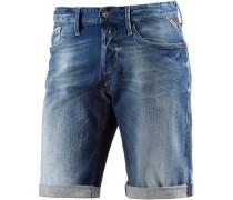 Waitom Short Jeansshorts Herren, blau