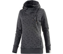 Beat Print Organic Sweatshirt Damen, Grau