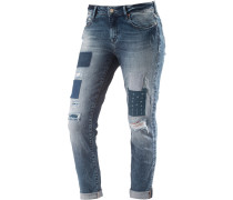 Ada Boyfriend Jeans Damen, blau