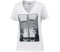 Printshirt Damen, weiß
