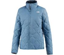 Zip-In Reversible Daunenjacke Damen, PROVINCIAL BLUE