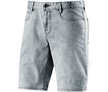 Outsider Washed Shorts Herren, blau