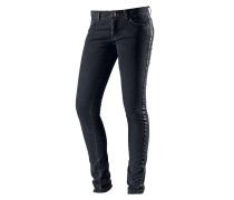 Skinny Fit Jeans Damen, schwarz