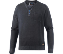 V-Pullover Herren, anthrazit washed
