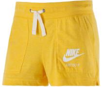 Gym Vintage Shorts Damen, gelb