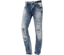 Slim Fit Jeans Herren, blau
