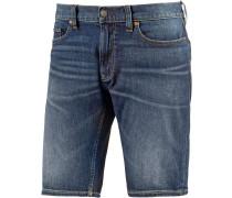 Washed Straight Shorts Herren, blau
