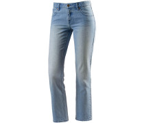 Straight Fit Jeans Damen, blau