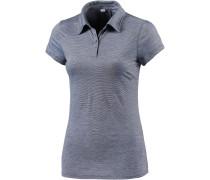 Sphere Poloshirt Damen, grau/weiß/gestreift
