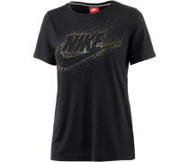 Essential T-Shirt Damen, schwarz