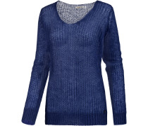 Strickpullover Damen, royal blau