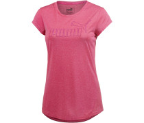 ACTIVE Essential T-Shirt Damen, neonpink/melange