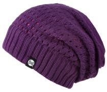 Knitted Neckwarmer Hat Beanie, Lila