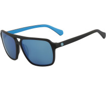 Passport Sonnenbrille, matte black/sky blue ion