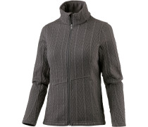 Major Cable Fleecejacke Damen, schwarz