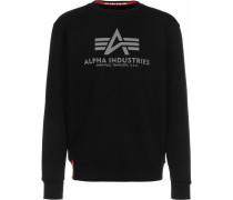 Basic Reflective Print Sweatshirt