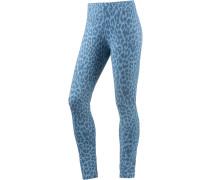 Leggings Damen, blau leo