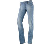 Suzzy Straight Fit Jeans Damen, blau