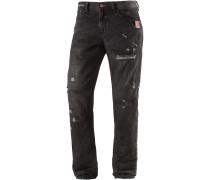 Fabijan Slim Fit Jeans Herren, schwarz