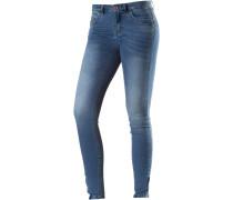 Kendell Ankle Skinny Fit Jeans Damen, blue washed denim
