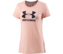 Threadborne Train T-Shirt Damen, rosa/grau
