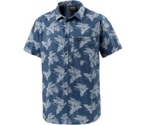Hot Chili Tropical Kurzarmhemd Herren, blau/allover