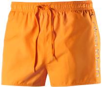 Badeshorts Herren, orange