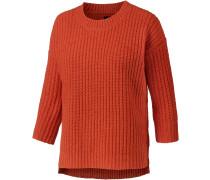 Strickpullover Damen, orange