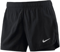 Flex 2in1 Shorts Damen, schwarz