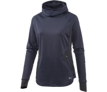 No Breaks Winter Laufhoodie Damen, blau