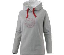 Logo Hoodie Damen, grau
