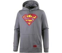 HeatGear Retro Superman Hoodie Herren, grau